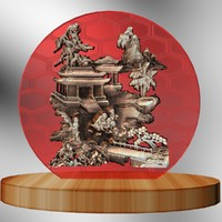 3d model chinese carving