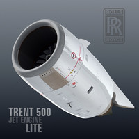 trent 500 jet engine c4d