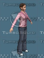 casual girl female medium 3d max