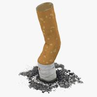 snuffed cigarette camel c4d