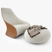 Zanotta Derby Armchair and Pouf