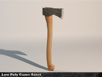 3d model of generic wood axe