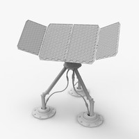 3d model sun sci-fi solar panel