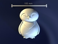 3d model of penguin mold hand