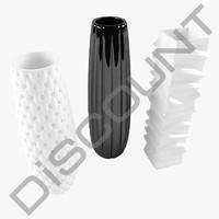 set ceramic vases 3d max