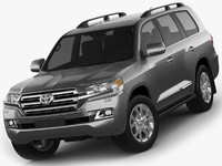 3d model toyota land cruiser