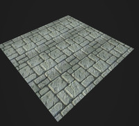 Stylized Pavement texture Gameready