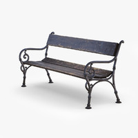 city bench 3d 3ds