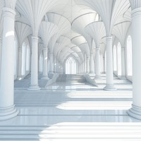 futuristic interior scene 3d max