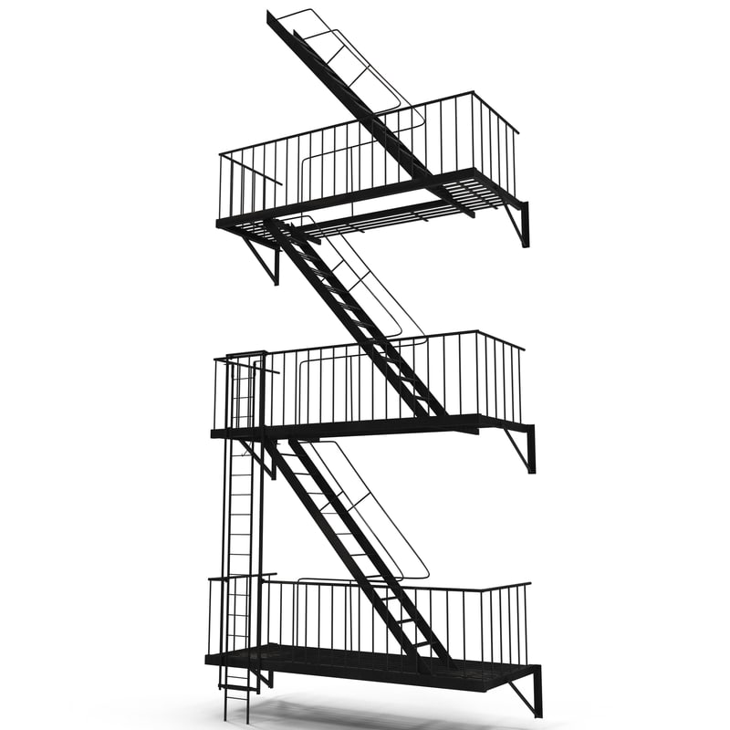 Fire Escape Stairs 3d model 01.jpg