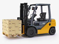 Forklift Toyota 8FD25 and pallet set