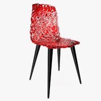 3d model edra gina chair design