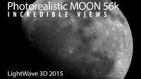56k Photorealistic Moon