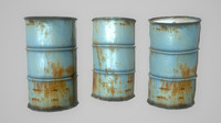 3d old oil barrel