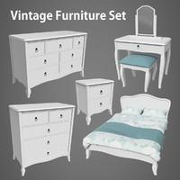 Vintage Furniture Bedroom Set