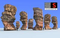3d model rock monument 8k