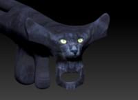 3d scifi gun cat s