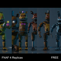 nights s 4 animatronic c4d free