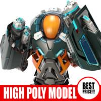 robot bot t 3d model