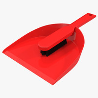 dustpan brush set 3d model
