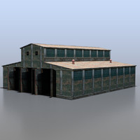 3d railway depot model
