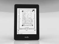 e-book amazon kindle paperwhite 3d model