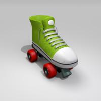 3d roller skate model