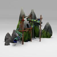 3d rope park model