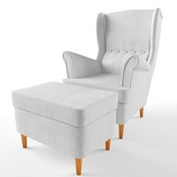 strandmon wing chair ikea 3d max
