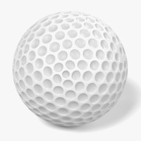 3d obj golf ball