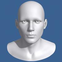 max polygonal male head