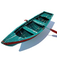 old row boat 3d max
