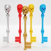 3d skull key