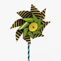 pinwheel wheel pin 3d model