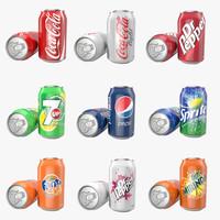 3d aluminum cans 0 33