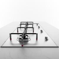 3d model smeg px140 cooktop