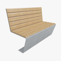 3d outdoor bench model