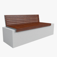outdoor bench 3d model