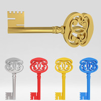 3ds max ancient old luxury key