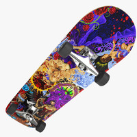 skateboard ed hardy 3d model