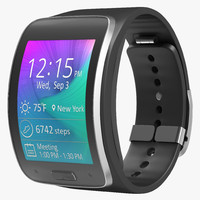 3d model samsung gear s black