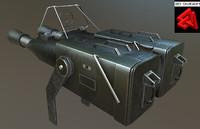 maya sci-fi rifle