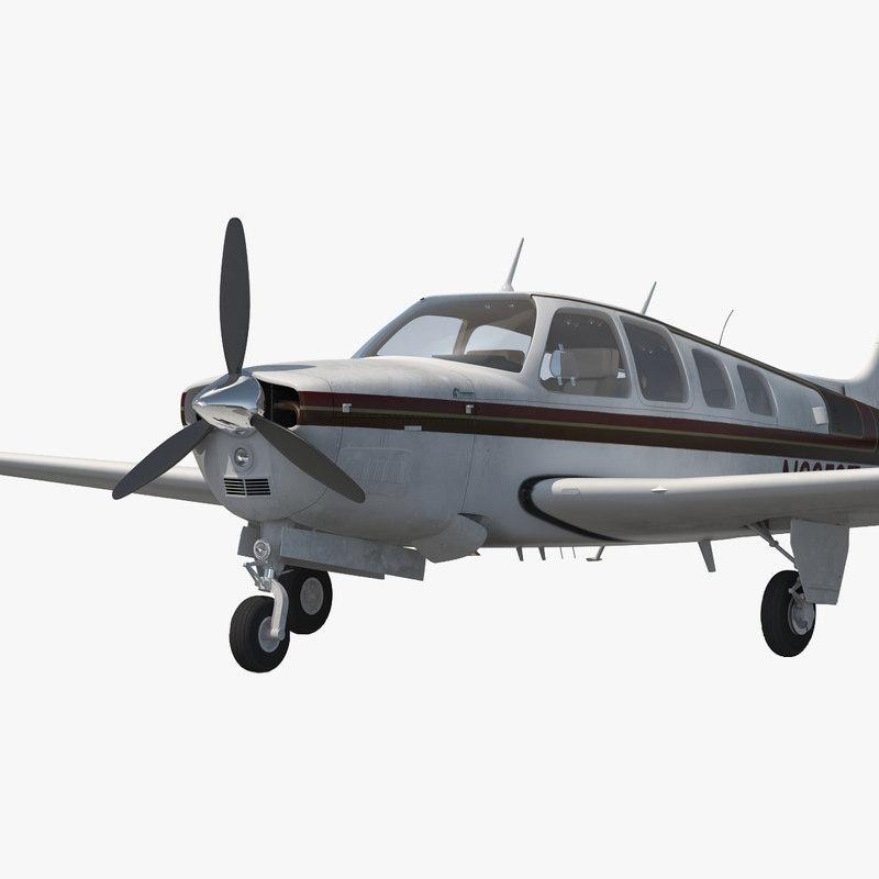 3d model of Beechcraft Bonanza 00.jpg