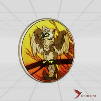 stained glass owl 3d model