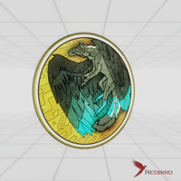 3ds max stained glass flying wolf
