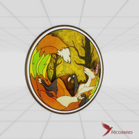 3dsmax stained glass fox