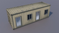3d obj office roome container
