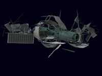 space debris 3d model