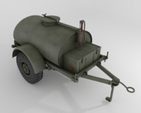 3d military water fuel cistern model