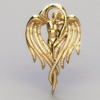 angel pendant stones 3dm
